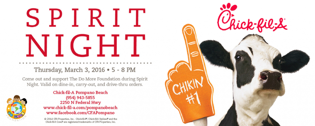 Chick-fil-a Spirit Night Slide